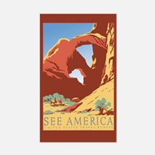 See America Travel Luggage Decal