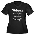 violence Women's Plus Size V-Neck Dark T-Shirt