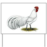 Phoenix White Rooster Yard Sign