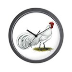 Phoenix White Rooster Wall Clock