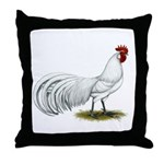 Phoenix White Rooster Throw Pillow