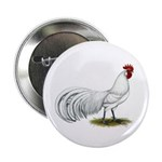 "Phoenix White Rooster 2.25"" Button (100 pack)"