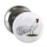 "Phoenix White Rooster 2.25"" Button"