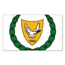 Cyprus Coat of Arms Rectangle Decal