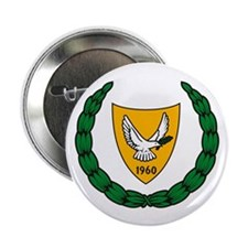 """Cyprus Coat of Arms 2.25"""" Button (10 pack)"""
