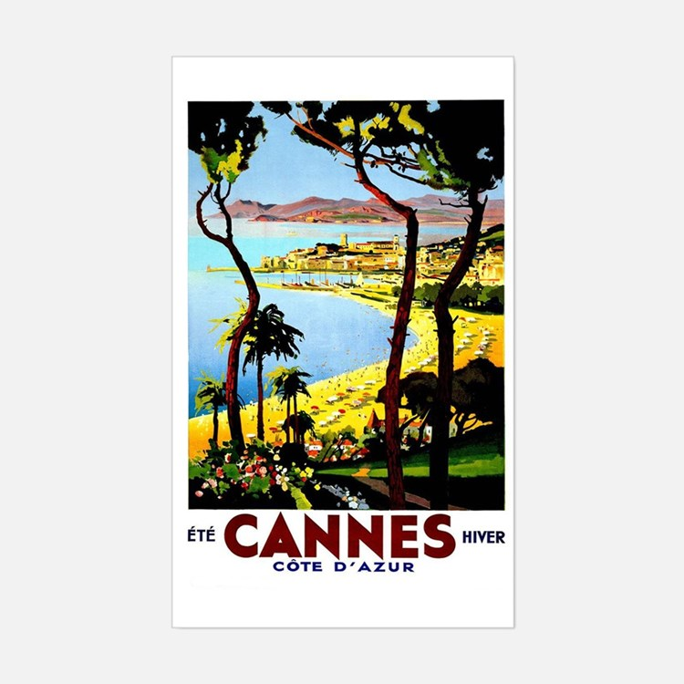 Cannes France Luggage Decal
