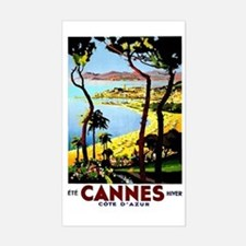 Cannes France Luggage Sticker (Rectangle)