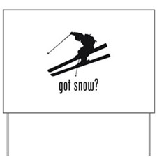 Skiing 6 Yard Sign