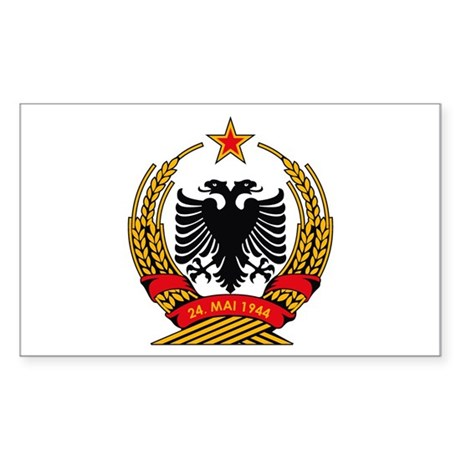 Albanian Coat of Arms Rectangle Sticker