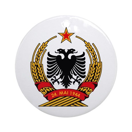 Albanian Coat of Arms Ornament (Round)