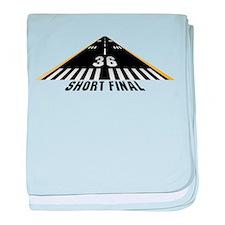 Aviation Short Final Infant Blanket