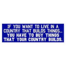 BUY AMERICAN - Bumper Bumper Sticker