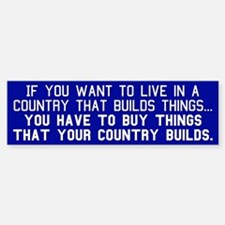 BUY AMERICAN - Bumper Bumper Sticker