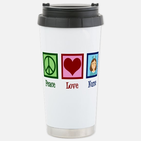 Peace Love Nurse Stainless Steel Travel Mug