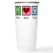 Peace Love Nurse Travel Mug