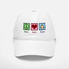 Peace Love Nurse Baseball Baseball Cap