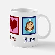 Peace Love Nurse Mug