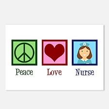 Peace Love Nurse Postcards (Package of 8)
