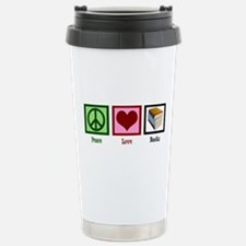 Peace Love Books Stainless Steel Travel Mug