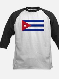 Cuban Flag - Bandera Cubana - Flag Baseball Jersey