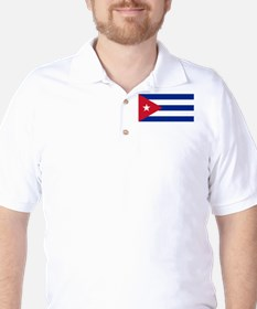 Cuban Flag - Bandera Cubana - Flag of C Golf Shirt