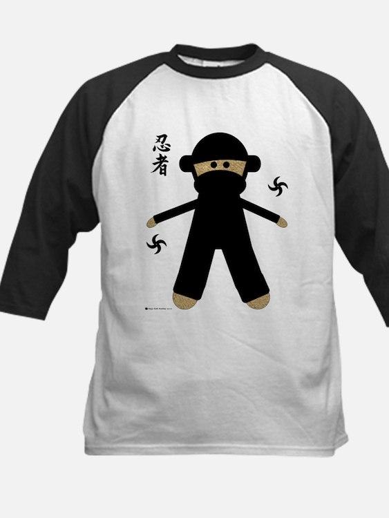 Cute Kids sock monkey monogram Tee