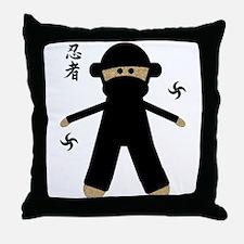 Cute Ninja kid Throw Pillow
