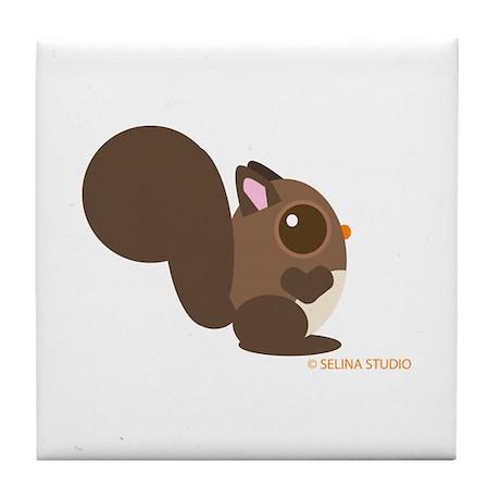 """Squirrel"" Tile Coaster"