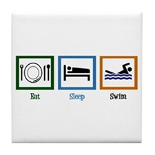 Eat Sleep Swim Tile Coaster