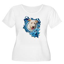 Christmas - Blue Snowflakes T-Shirt