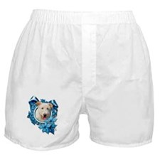 Christmas - Blue Snowflakes Boxer Shorts