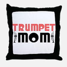 Trumpet Mom Throw Pillow