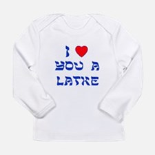 I Love You a Latke Long Sleeve Infant T-Shirt