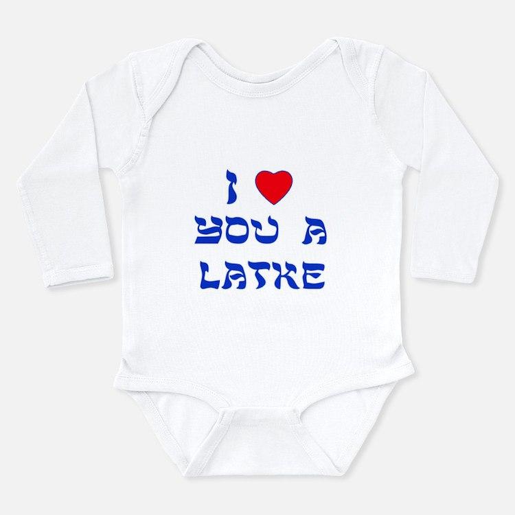 I Love You a Latke Long Sleeve Infant Bodysuit