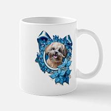 Christmas - Blue Snowflakes Mug