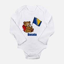 Bosnia Teddy Bear Long Sleeve Infant Bodysuit