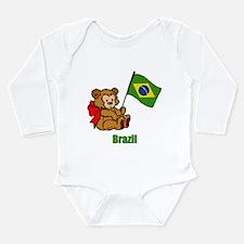 Brazil Teddy Bear Long Sleeve Infant Bodysuit