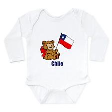 Chile Teddy Bear Long Sleeve Infant Bodysuit