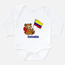 Colombia Teddy Bear Long Sleeve Infant Bodysuit