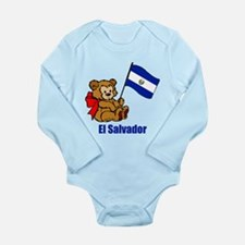 El Salvador Teddy Bear Long Sleeve Infant Bodysuit