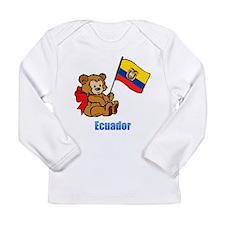 Ecuador Teddy Bear Long Sleeve Infant T-Shirt