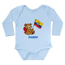 Ecuador Teddy Bear Long Sleeve Infant Bodysuit
