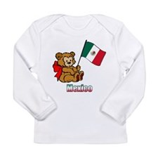 Mexico Teddy Bear Long Sleeve Infant T-Shirt
