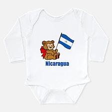 Nicaragua Teddy Bear Long Sleeve Infant Bodysuit