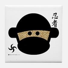 Sock Monkey Ninja Tile Coaster