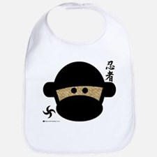 Sock Monkey Ninja Bib