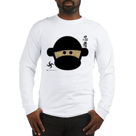 Sock Monkey Ninja Long Sleeve T-Shirt