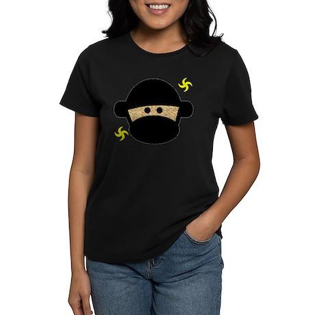 Sock Monkey Ninja Women's Dark T-Shirt