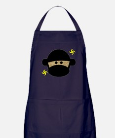 Sock Monkey Ninja Apron (dark)