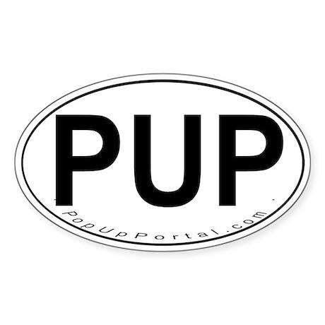 PUP Oval Sticker